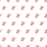 Seamless pattern summer beach cold drinks background with template in swatches for your convenience. Easy to use. Stock Photography