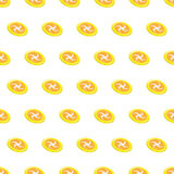 Seamless pattern summer beach frisbee background with template in swatches for your convenience. Easy to use. Cartoon flat style illustration royalty free illustration