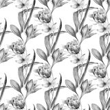 Seamless pattern with summer flowers Stock Photo