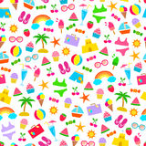Summer pattern. Seamless pattern with summer icons Royalty Free Stock Image