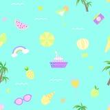 Seamless pattern summer illustration vector royalty free illustration