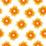 Seamless Pattern with Summer Sun Shapes. Vector Illustration on a white background. Seamless Pattern with Summer Sun Shapes. Vector Illustration. Flat Style Stock Images