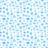 Seamless pattern with summer symbols Royalty Free Stock Image