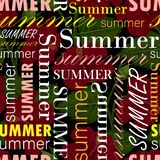 Seamless pattern with summer text, colorful  royalty free illustration