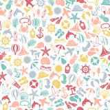 Seamless pattern summer travel icons Stock Image
