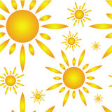 Seamless pattern with sun Stock Image