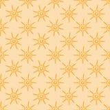Seamless pattern, sun, hand drawing Royalty Free Stock Photos