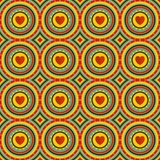 Seamless pattern with sun and heart. Stock Images