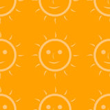 Seamless pattern of sun Stock Images
