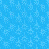 Seamless pattern with sun ornament Royalty Free Stock Image