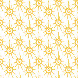 Seamless pattern with sun ornament Royalty Free Stock Photography