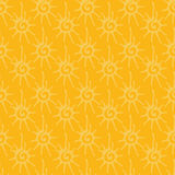 Seamless pattern with sun ornament Royalty Free Stock Photos