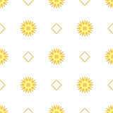 Seamless pattern with sun. Vector illustration. Royalty Free Stock Photography