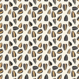 Seamless pattern with sunflower seeds. For textiles, interior design, for book design, website background Stock Photography