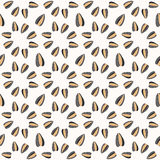 Seamless pattern with sunflower seeds Stock Image