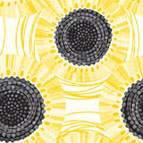 Seamless pattern with sunflowers. Abstract floral background. Endless background with sunflowers. Bright  illustration Stock Image