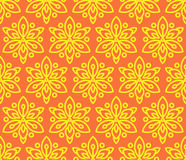Seamless pattern with sunflowers. Royalty Free Stock Image