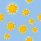 Seamless pattern with suns Stock Image