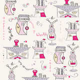Seamless pattern with  surreal houses Royalty Free Stock Images