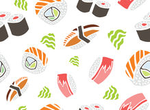 Seamless Pattern Sushi Stock Images