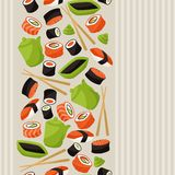 Seamless pattern with sushi Royalty Free Stock Photo