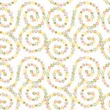 Seamless pattern with sushi rolls. Stock Image