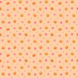 Seamless pattern with sushi and sakura flowers Stock Images