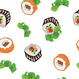 Seamless pattern with sushi royalty free illustration