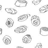 Seamless pattern sushi set Royalty Free Stock Images