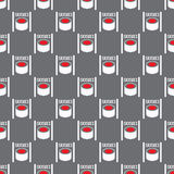 Seamless pattern from sushi Royalty Free Stock Image