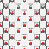 Seamless pattern from sushi Stock Images