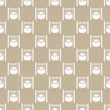 Seamless pattern from sushi Stock Image