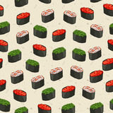 Seamless pattern of sushi Royalty Free Stock Photos