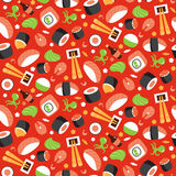 Seamless pattern with sushi Royalty Free Stock Photography