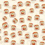Seamless pattern of sushi Royalty Free Stock Photo