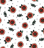 seamless pattern with swallows Stock Images