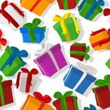 Seamless gift pattern Royalty Free Stock Image