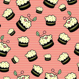 Seamless pattern with cakes Royalty Free Stock Photos