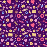 Seamless pattern with sweet, confectionery. Stock Image