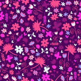 Seamless pattern with sweet floral elements Royalty Free Stock Photo