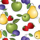 Seamless pattern - Sweet fruits Royalty Free Stock Photos
