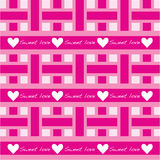 Seamless pattern with sweet love Royalty Free Stock Photo