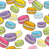 Seamless pattern with sweet macarons Royalty Free Stock Photos