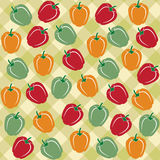 Seamless pattern of sweet peppers of different colors Royalty Free Stock Images