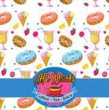 Seamless pattern of sweeties Stock Photography