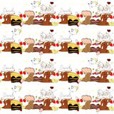 Seamless pattern with sweets Stock Photos