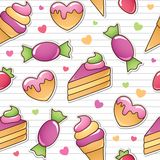 Seamless pattern with sweets Royalty Free Stock Photo