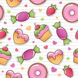Seamless pattern with sweets Stock Photography