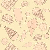 Seamless pattern: sweets. Stock Images