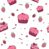 Seamless pattern Sweets Royalty Free Stock Photography